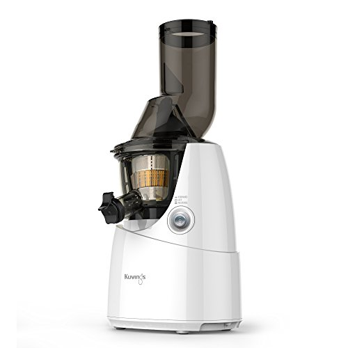 Kuvings Whole Slow Juicer White B6000W with Sortbet Maker, Cleaning Tool Set, Smart Cap and Recipe Book
