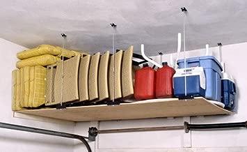 Ceiling Mounted DIY Adjustable Shelving Kit for Garage, Basement, Shed or Shop