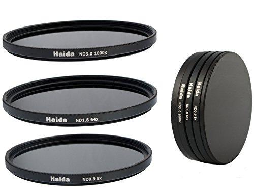 Timetrends24/Haida - Set di filtri neutri composto da ND8, ND64, ND1000 da 67mm + portafiltri Stack Cap + copriobiettivo Pro Lens Cap