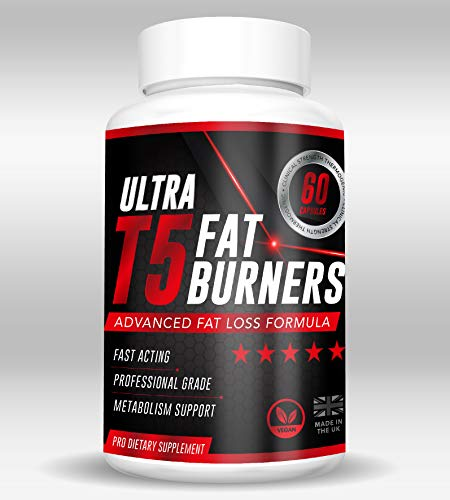Ultra T5 Fat Burners. Weight Management for Men & Women. High Strength Metabolism Booster & Appetite Suppressant. Increase Energy & Burn Fat. Green Tea & Caffeine. Pre-Workout Thermogenic Supplement.