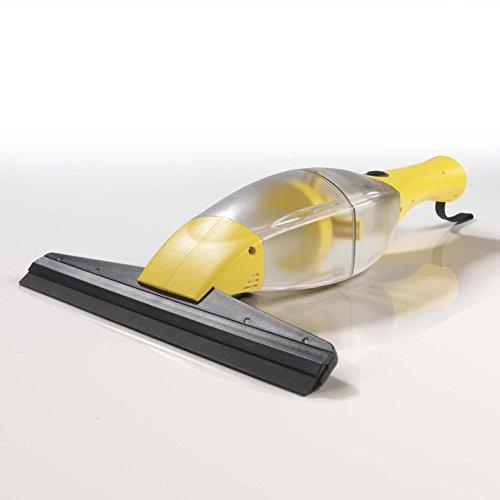 CLEANmaxx 02304 Akku-Fensterreiniger | Streifenfreie Sauberkeit | Fenster, Fliesen, Spiegel, U.V.M., keine Tropfen | Li-Ion Akku 1500 mA [gelb]
