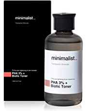 Minimalist PHA 3% Alcohol Free Toner, 150 ml | Pore Tightening & Mild Exfoliation For Oily, Acne Prone, Sensitive & Normal Skin | Hydrating Face Toner For Glowing Skin