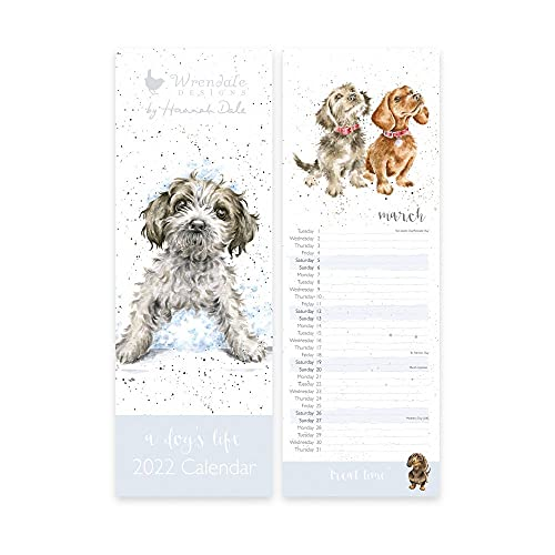 Wrendale Designs Slim Calendar 2022 – A Dog's Life