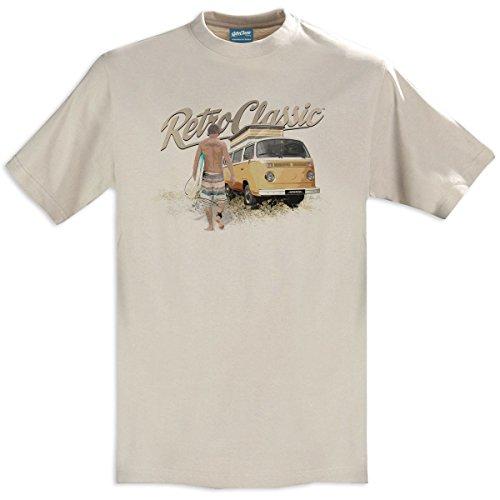 RetroClassic - Camiseta retro con surfista y furgoneta,...