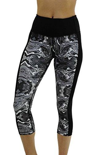 Christian Siriano New York Yoga Capri Pants for Women, Black / White, Medium