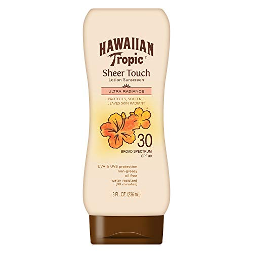 Hawaiian Tropic Sheer Touch Lotion Sunscreen Moisturizing BroadSpectrum Protection SPF 30 8 Ounces