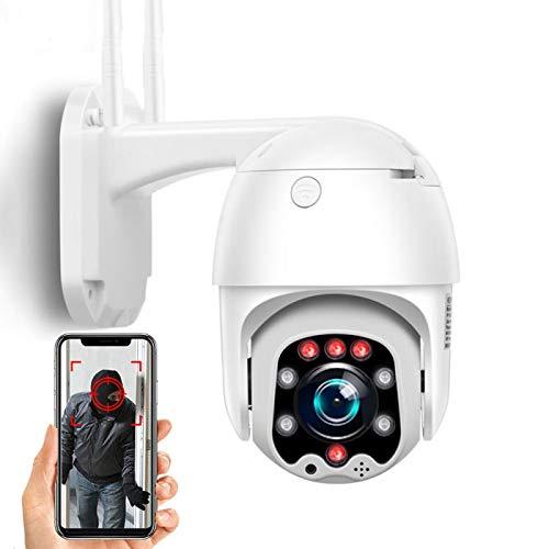 AINSS Cámara de Seguridad IP para Exteriores 1080P 4G SIM Cámara de vigilancia CCTV PTZ 360 ° detección de Movimiento visión Nocturna visualización remota IP66 a Prueba de Agua (Cámara 4G)