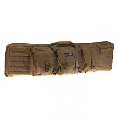 YONGCUN Gun Bag Gun Case Rifle Bag Double Tactical Bag Double Carbine Cases Long Gun Case Bag Tactical Gun Bag 46inch Tan 600D Waterproof PVC
