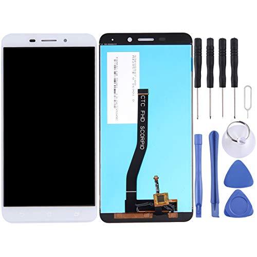 ZHANGQUAN Reemplazo de ANQ Nueva Pantalla de Repuesto y Accesorios Reparación LCD y digitalizador Asamblea Completa for ASUS ZenFone 3 ZC551KL Láser (Negro) (Color : White)