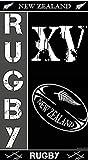 Grenadine Boutique - Draps de Bain Rugby New Zealand Serviette de Plage Nouvelle Zélande - Gris