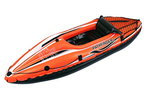 Jilong Jl007202N Kayak Inflable 1 Personas, Unisex-Adult, Negro, Naranja, Talla Única