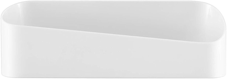 RFJJAL Bathroom Wall Hanging Rack - 26.5  10.8  8.9cm - Washstand Green Plastic Storage Box Free-Perforated Toilet Bathroom Racks (color   White)