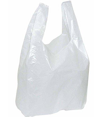 2.000 sacchetti di plastica bianchi con manici, dimensioni300x 160x 520mm