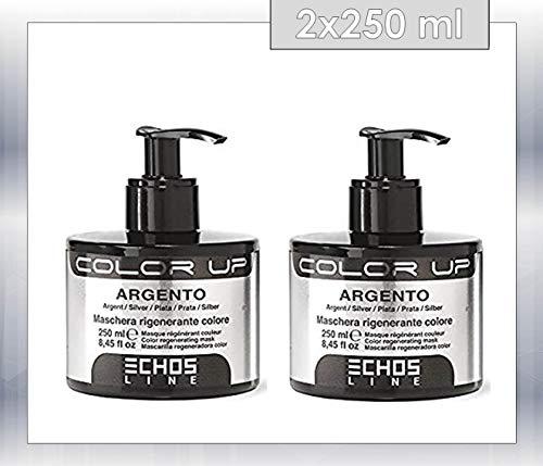 echosline Color Up–máscara regenerante Color Plata–Nuance Plata (250ML) 2unidades