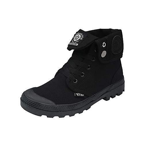 Zapatillas para Mujer by BaZhaHei, Zapatos de Mujer con Cordones Planos con Cordones y Tobillo Militar de Lona para Mujer de Zapatillas clásicas de tacón Alto para Mujer con Plataforma y puños Mujer