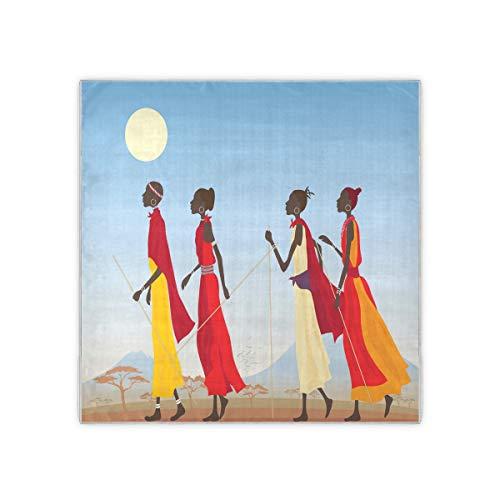 """Bufanda cuadrada para mujer Masai mujeres cuello bufandas y envolturas pañuelo pañuelo de moda 35 """"x 35"""""""