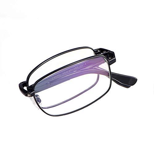 Gafas de lectura ligeras negras, gafas de lectura plegables