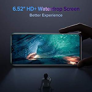 Teléfono Móvil,Ulefone Note 9P Móviles Libres 4G 4GB + 64GB, Android 10 Smartphone Libre Octa-Core 6.52 Inch FHD,Triple Cámara 16MP, 4500mAh, Face ID& Huellas Dactilares&OTG, [Azul]