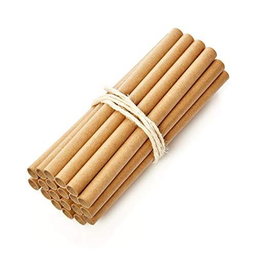 bambuswald© 200 Nisthülsen mit Ø 10mm für Wildbienen - 100% ökologische Pappröhrchen für Insektenhotel, Niströhren & Bruthülsen als Füllmaterial für Bienenhotel