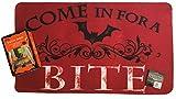 Ghouloween Halloween Spooky Bat Doormat with Screaming Mat Bundle Set