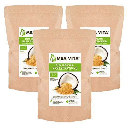 Meavita Azúcar De Coco Meavita, Sin Refinar, Paquete De 3 (3X 1000G) En Una Bolsa 1200 g