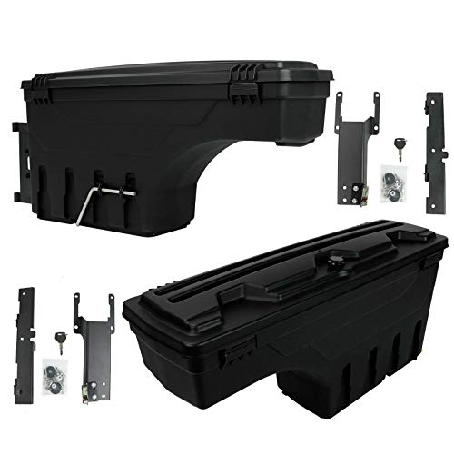 EASYBERG Truck Bed Storage Box Toolboxes 1 Pair Black Fit...