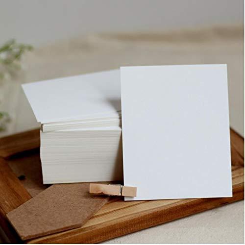 Madera en Blanco Libro Blanco de la Tarjeta Manuscrita Mensaje de Tarjeta Postal en Blanco 350g Papel Grueso