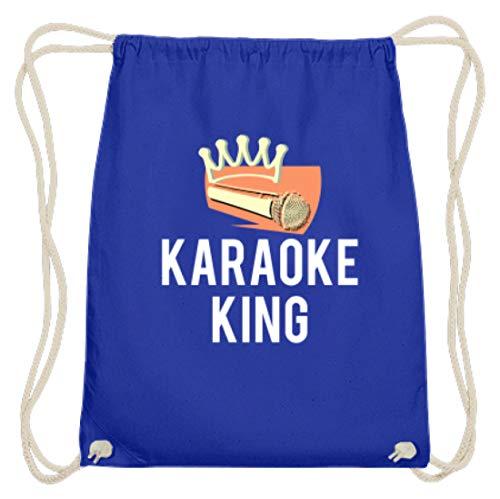 Karaoke King Karaoke Sänger Sängerin Karaokesänger Karaokesängerin Musikliebhaber Baumwoll Gymsac