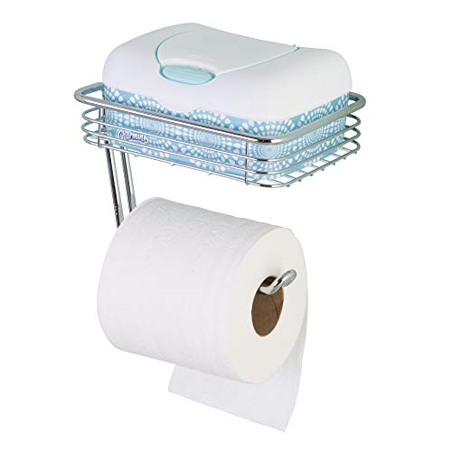 iDesign Classico WC-Papierrolhouder mit regel-Wandmontiert, Chromfarben, Chrom