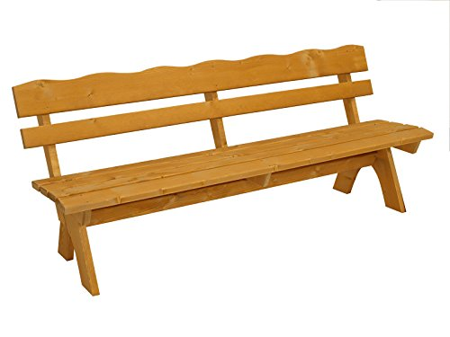 DEGAMO Gartengarnitur Freital XXL 3-teilig 200cm, 2X Bank 200cm und 1x Tisch 70x200cm, Kiefer imprängiert - 2