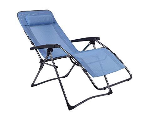 Westfield Home & Garden Relax Lounger blau Hochlehner Gartenliege Textilene Bezug wasserabweisend bis 140 kg belastbar