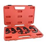 ABN Tie Rod and Pitman Arm Adjusting Tool Set – 5 Pc Tie Rod Adjusting Tool Kit and Heavy Duty Pitman Arm Puller Set