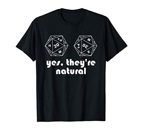 Yes They Are Natural Ja Sie Sind Natürlich Würfel T-Shirt