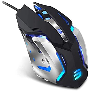 Black Color : Black New Bluetooth Wireless Mouse Keyboard High Performance Wired MouseSilent Click USB Wired Gaming Mouse with 6 Buttons 3200DPI