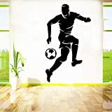 nkfrjz DIY fußball wasserdicht wandaufkleber wohnkultur für wohnkultur Wohnzimmer Schlafzimmer Hintergrund wandkunst Aufkleber 43x73 cm