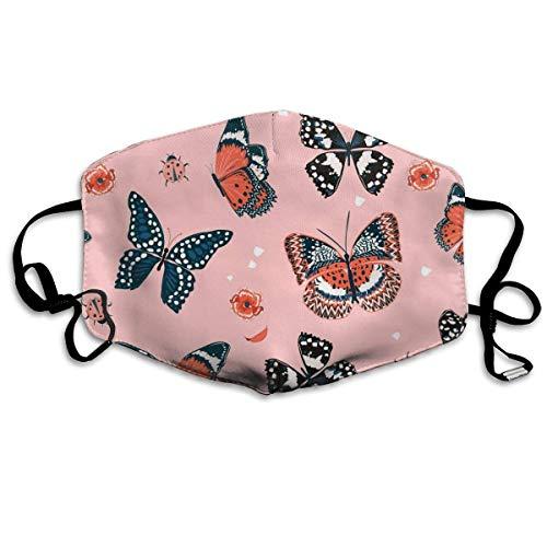 wu Süßer Ton von Schmetterlingen, die im Garten fliegen Personalisierte waschbare wiederverwendbare Sicherheit atmungsaktiv. &mal. in, verstellbare Ohrringe für tägliche Aktivitäten