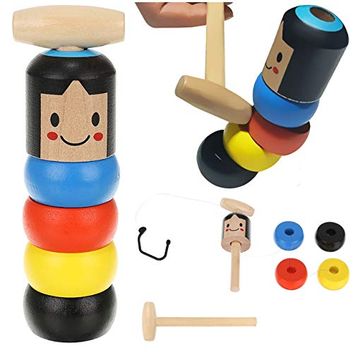 ISO TRADE Unzerbrechliche hölzerne Mann Wooden Holz-Spielzeug lustiges Holz-Spielzeug für Kinder und Erwachsene 9991
