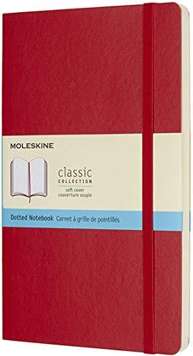 Moleskine Notizbuch, Large, A5, Punktraster, Soft Cover, Scharlachrot