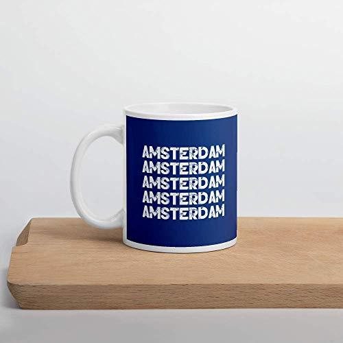 N\A Taza Amsterdam Retro Azul
