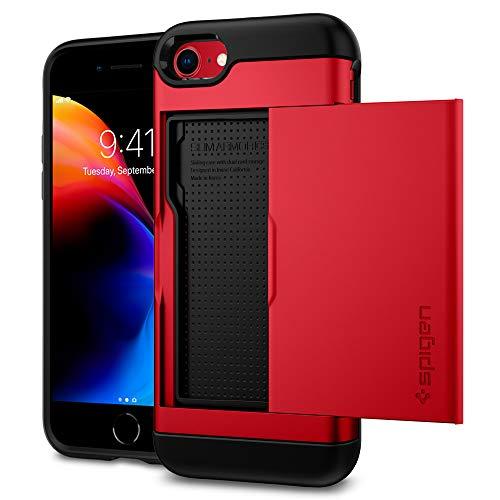 Spigen Slim Armor CS Designed for Apple iPhone 8 Case (2017) / Designed for iPhone 7 Case (2016) - Red