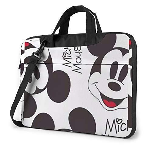 15.6 Inch Laptop Bag Mickey Mouse Smile Laptop Briefcase Shoulder Messenger Bag Case Sleeve
