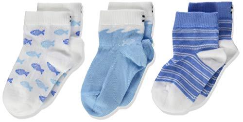 Tommy Hilfiger Th Sock 3p Giftbox Baby Calze, Blu (Blue Combo 025), 15-18 (Taglia Produttore: 15/18) (Pacco da 3) Bimbo
