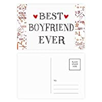 これまでに最高のボーイフレンドの引用・ハート 公式ポストカードセットサンクスカード郵送側20個