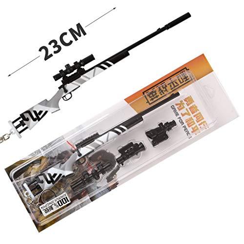 1/5 Escala M24 Rifle De Francotirador De Metal Modelo Militar Juego De rol Arma Llavero Modelo De Juguete Desmontable (A)