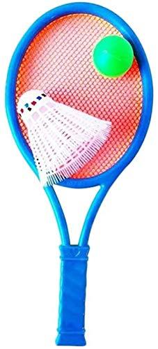 RENFEIYUAN 1 Conjunto de Plastic Tennis Raquet Set Badminton Raqueta Educativa Deportes al Aire Libre Juguetes Badminton Raqueta