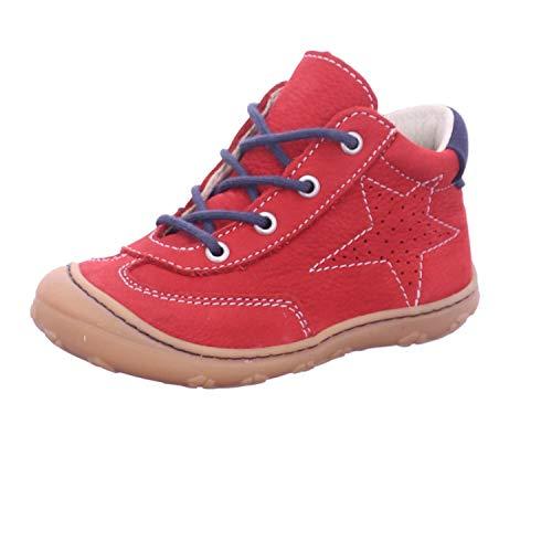 RICOSTA Unisex - Kinder Stiefel SAMI von Pepino, Weite: Mittel (WMS), Boots schnürstiefel Leder Kids junior Kleinkinder,Rubino,20 EU / 4 Child UK