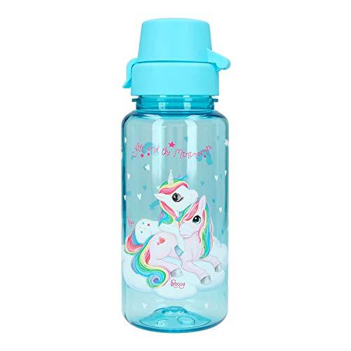 Depesche 5357 Trinkflasche aus Kunststoff Ylvi und die Minimoomis, Einhorn Naya, frei von BPA und Phthalaten, ca. 400 ml, bunt