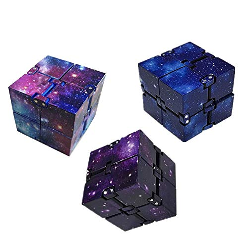 Karyees 3PCS Infinity Fidget Cube for Adults Kids, Cool Mini Gadget Spinner Best for Stress and...