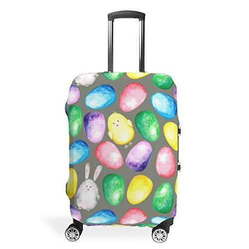 Toomjie Travel Bagage Cover Wasbaar Mode Spandex Bagage Koffer Beschermer Anti-Water Stofdichte Case Pasen Konijn Stijl