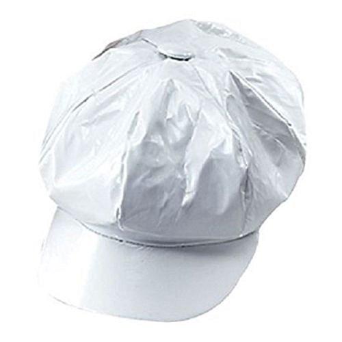ILOVEFANCYDRESS Casquette en plastique PVC blanche style Disco des années 1970. Ideal pour les soirées du même genre.
